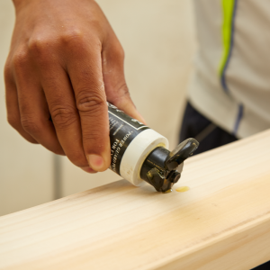 Applying linseed oil to finished cricket bat